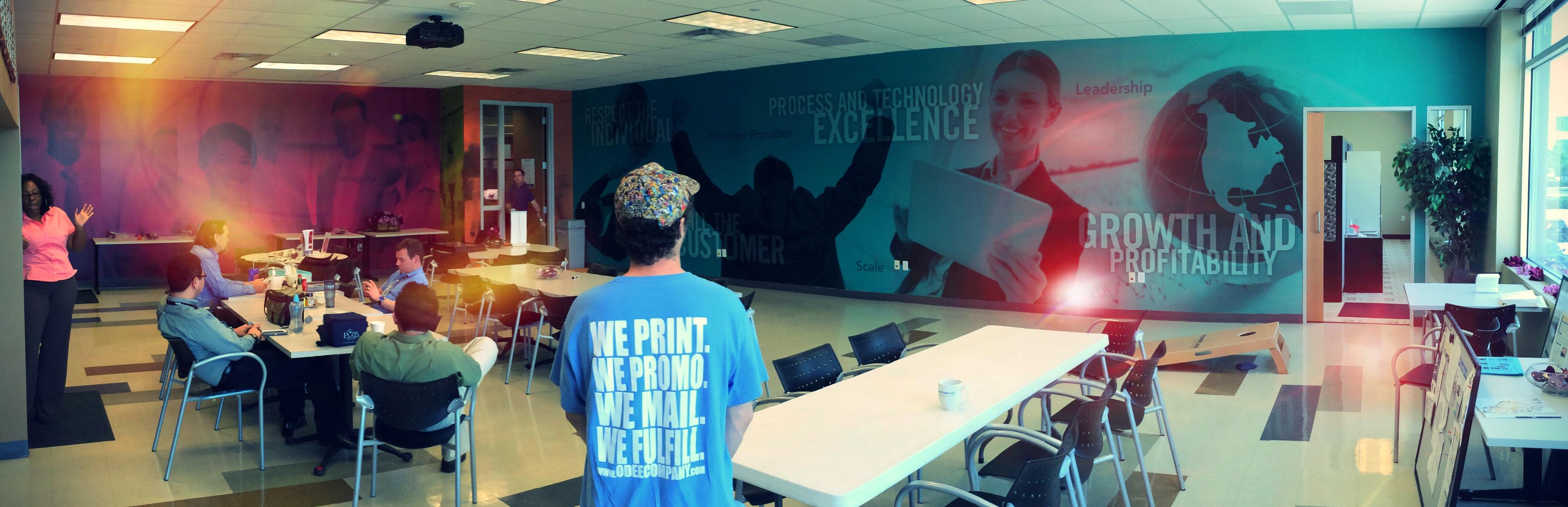 Wall mural digital printing