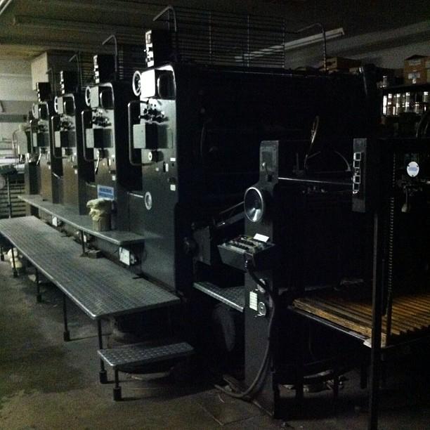 heidelberg manual printing